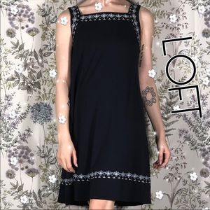 Loft Summer Extra Small Tent Embroidery Mini Dress